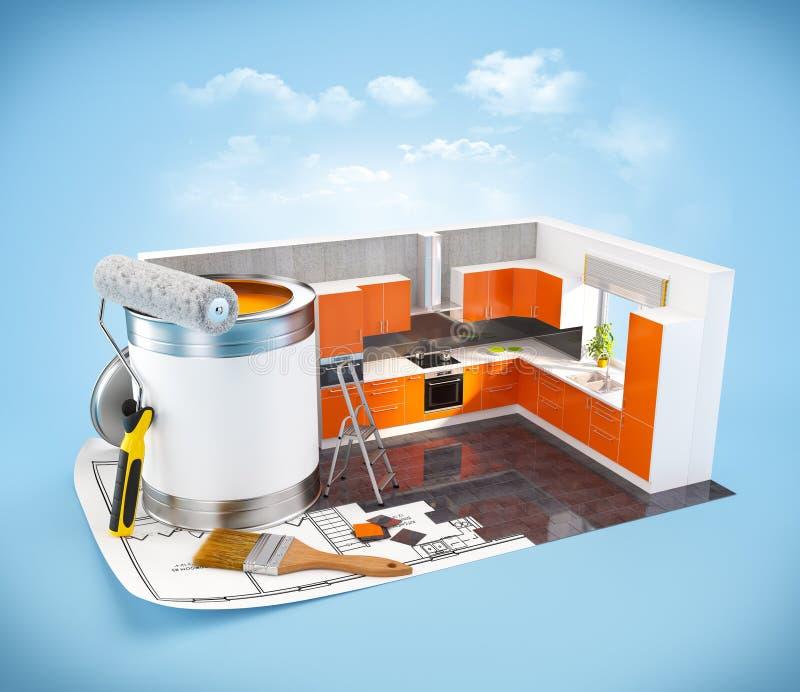 Concept de construction intérieure illustration de vecteur