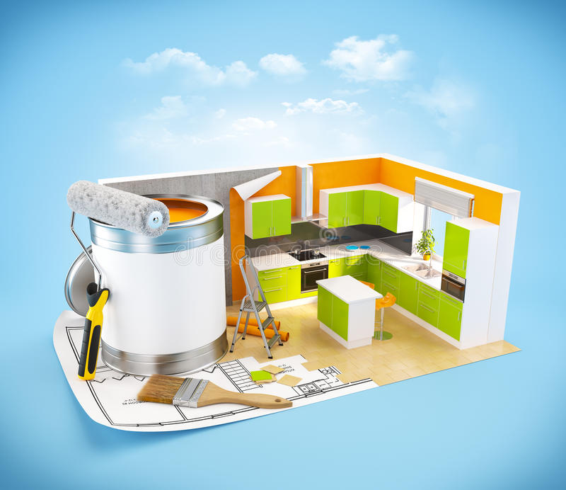 Concept de construction intérieure illustration stock