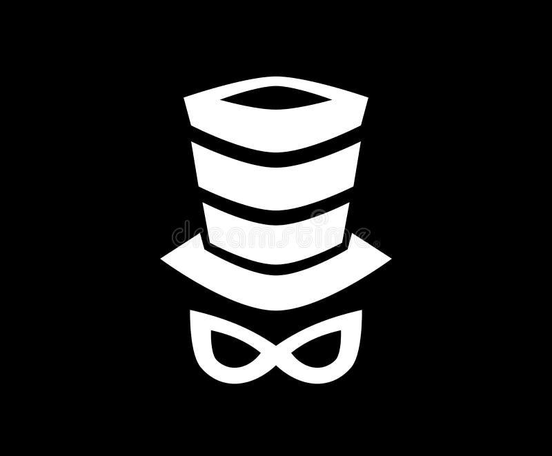 Concept de construction de logo de chapeau illustration de vecteur
