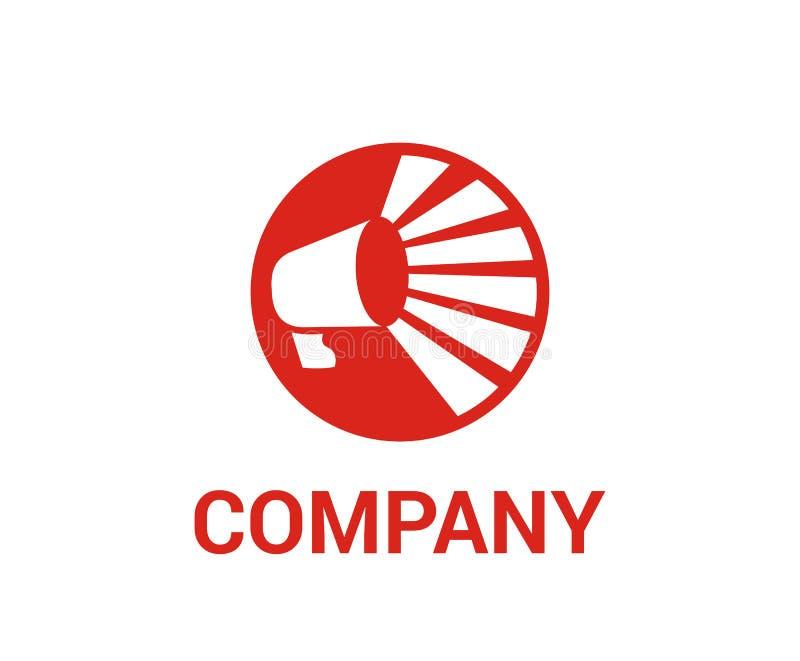 Concept de construction de logo de cri illustration de vecteur
