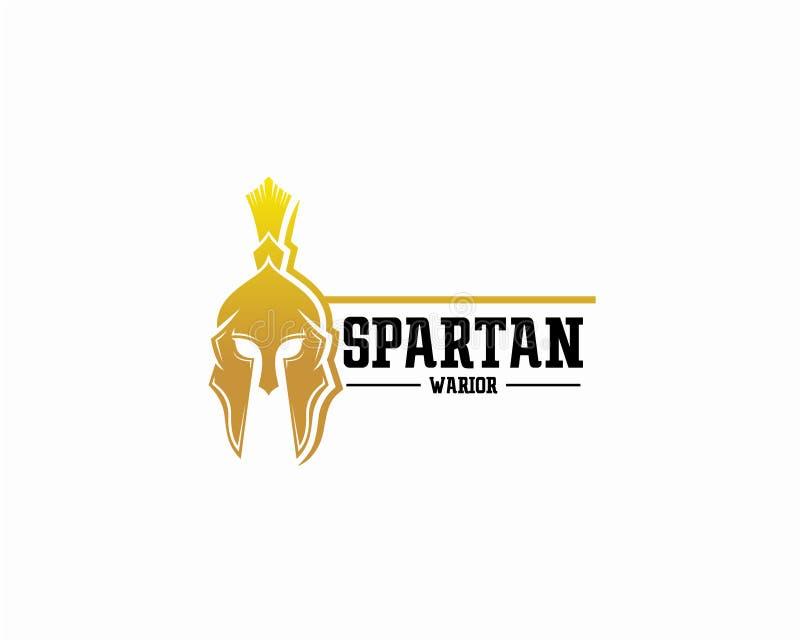 Concept de construction de logo de Spartan Warrior, calibre de vecteur de logo de sport illustration de vecteur