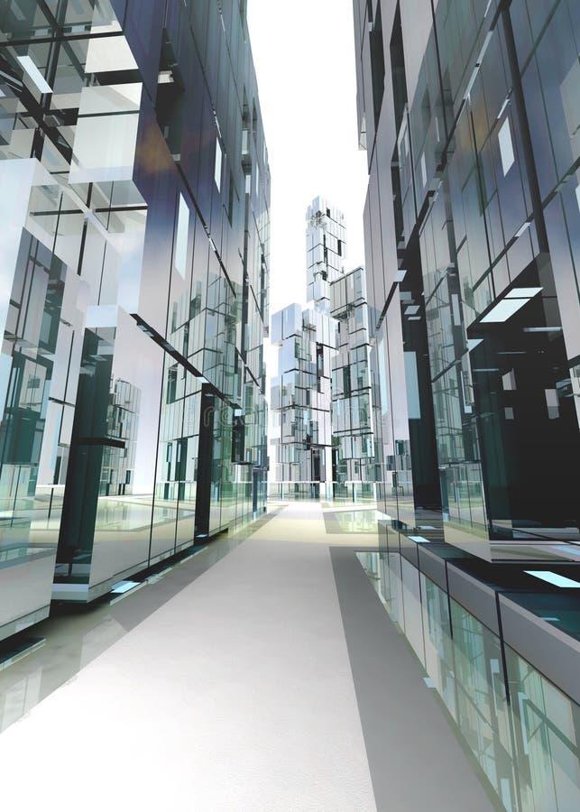 Concept de construction moderne neuf de rue d 39 affaires for Neuf construction