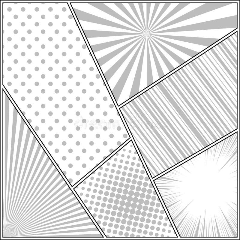 Concept de construction monochrome de bande dessin?e illustration libre de droits