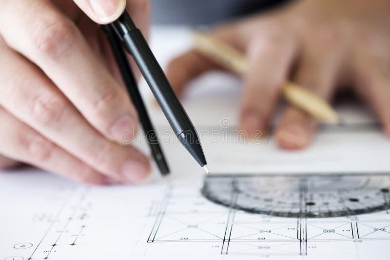 Concept de construction Outils d'ingénierie photo libre de droits