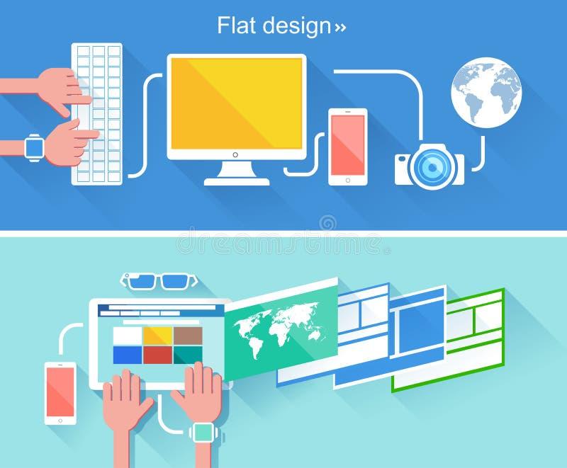 concept de construction plat illustration stock
