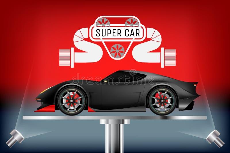 Concept de construction réaliste de voiture superbe illustration libre de droits