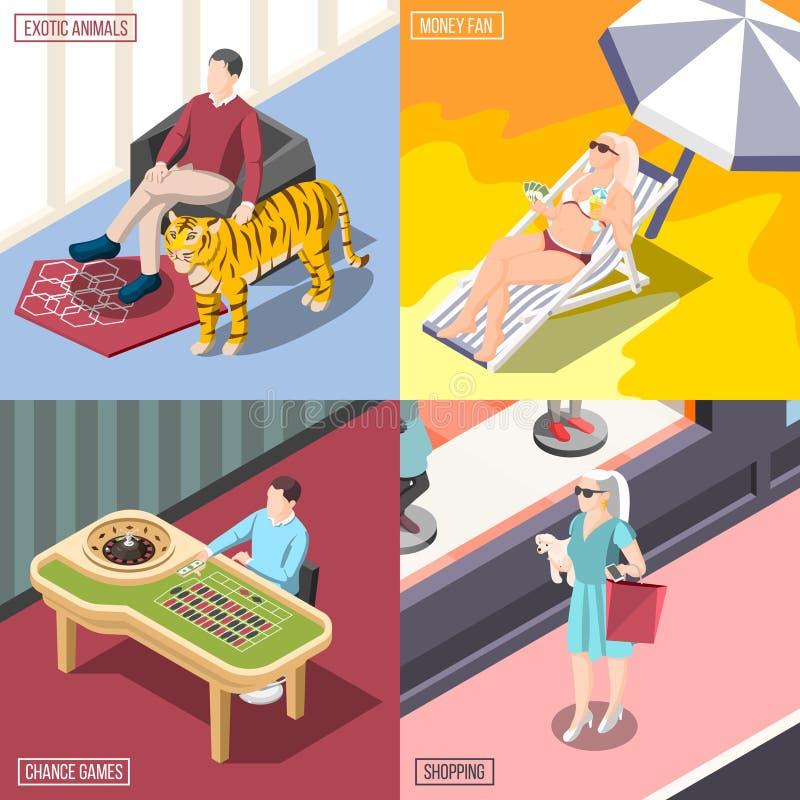 Concept de construction de Rich Life 2x2 illustration libre de droits