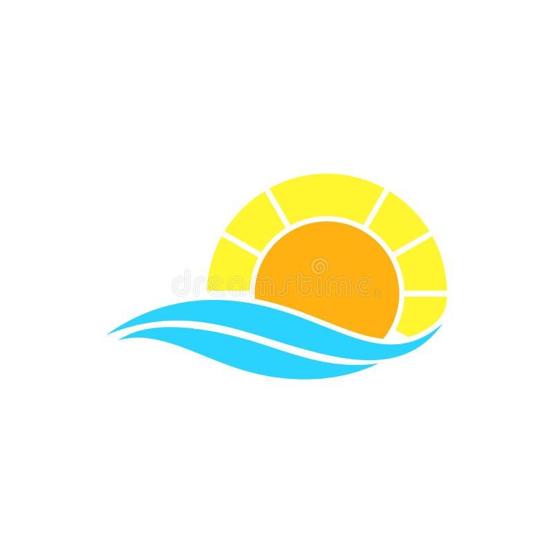 Concept de construction simple de logo de coucher du soleil image libre de droits