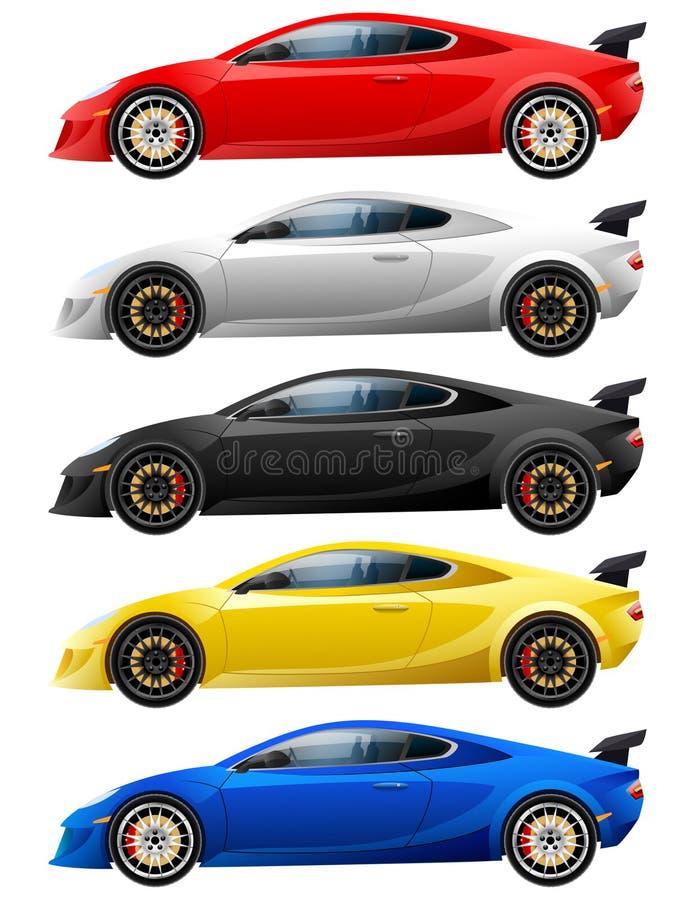 Concept de construction superbe de voiture Moderne unique illustration de vecteur