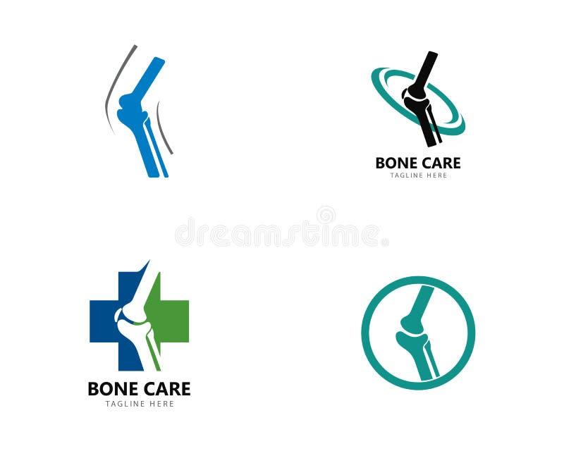 Concept de constructions de logo de santé d'os, vecteur de traitement d'os illustration libre de droits