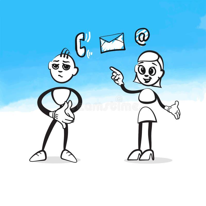 Concept de consultation de Stickman illustration stock
