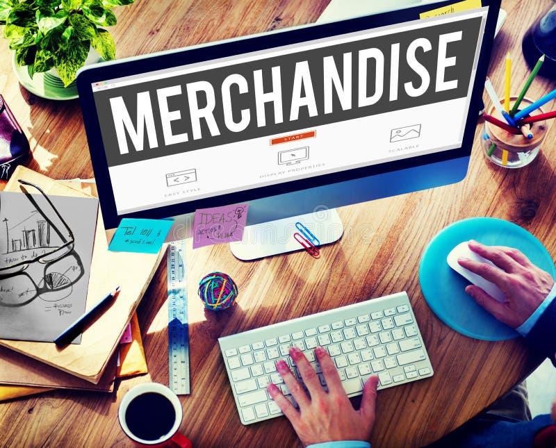 Concept de ConsumerSell de marketing de produit de marchandises images libres de droits