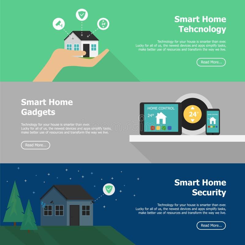Concept de contrôle à la maison futé Maison futée infographic Image de vecteur illustration libre de droits