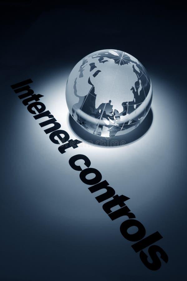 Concept de contrôles d'Internet images stock