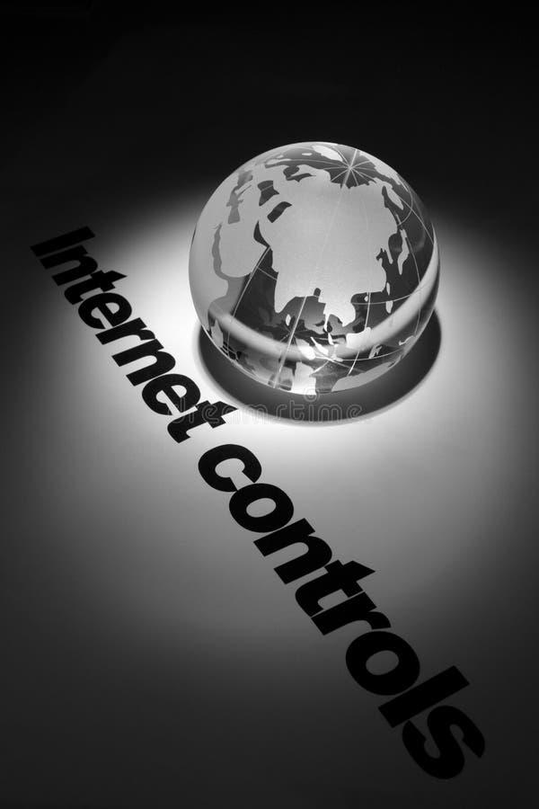 Concept de contrôles d'Internet photos libres de droits