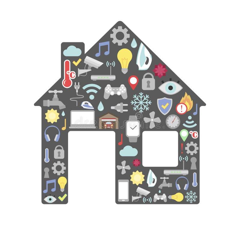 Concept de contrôle à la maison futé illustration libre de droits