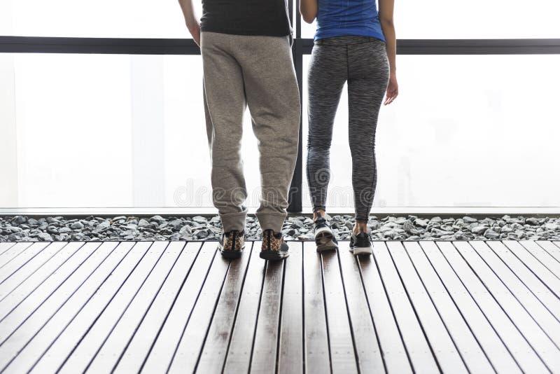 Concept de couples de coureur d'exercice de forme physique de sport de séance d'entraînement photographie stock