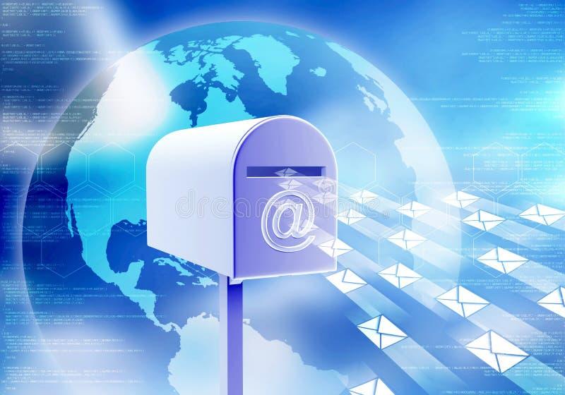 Concept de courrier d'Internet illustration stock