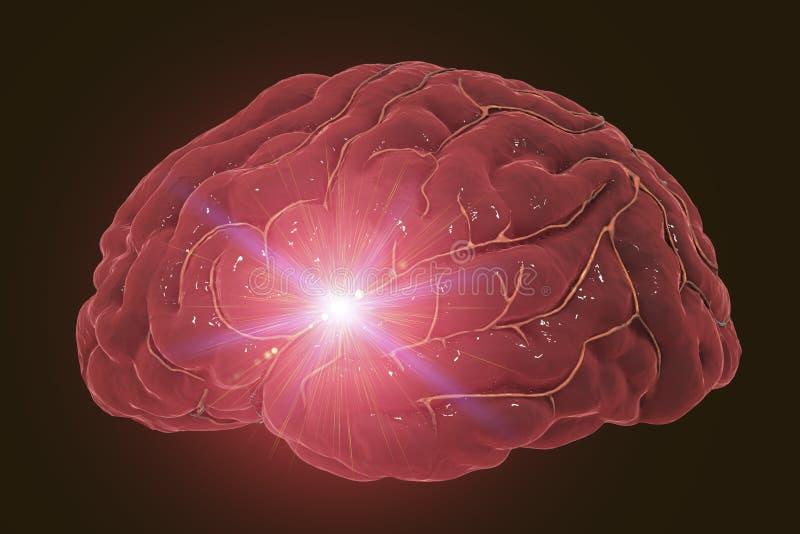 Concept de course de cerveau image libre de droits
