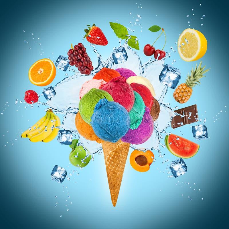 Concept de crème glacée  illustration libre de droits