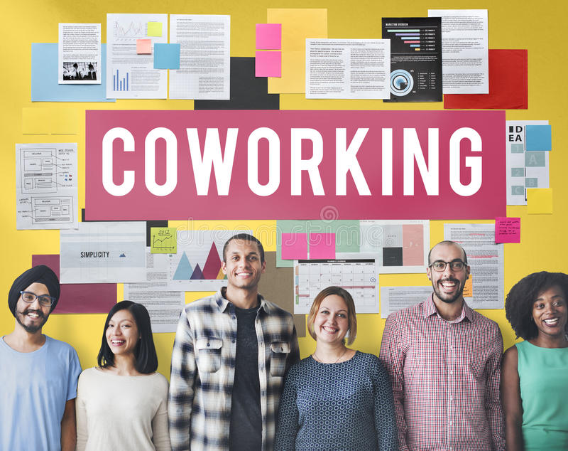 Concept de création d'entreprise de la Communauté de l'espace de Coworking photo libre de droits