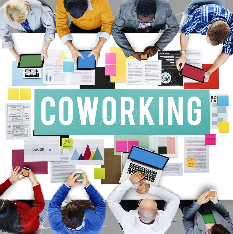 Concept de création d'entreprise de la Communauté de l'espace de Coworking photographie stock libre de droits