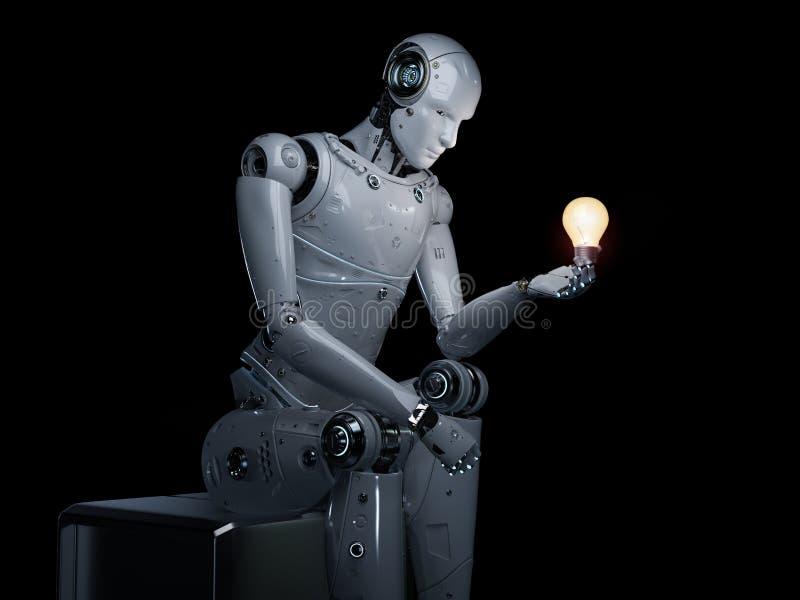 Concept de créativité d'AI illustration libre de droits