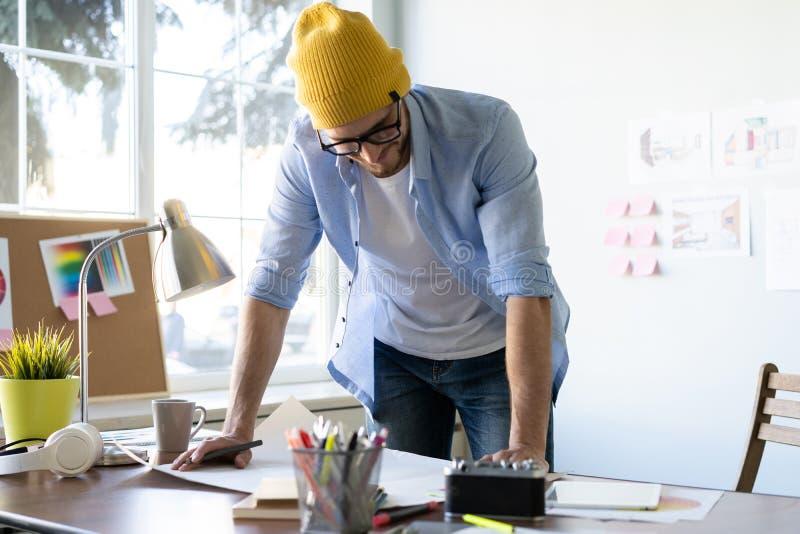 Concept de Creative Occupation Blueprint d'architecte de studio de conception photographie stock