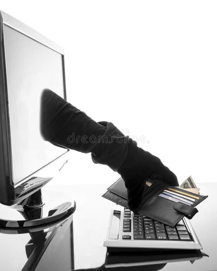 Concept de crime d'Internet photographie stock
