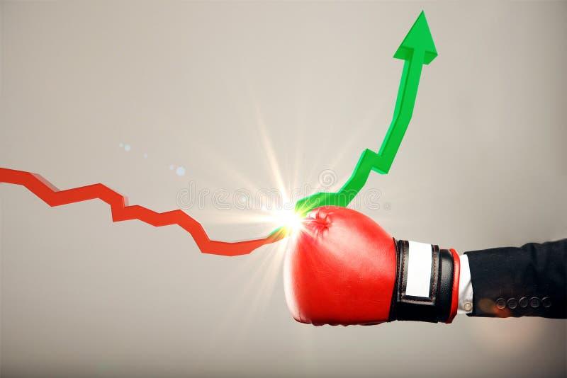 Concept de crise économique et de succès photos stock