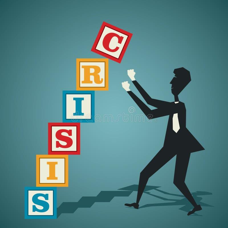Concept de crise illustration stock