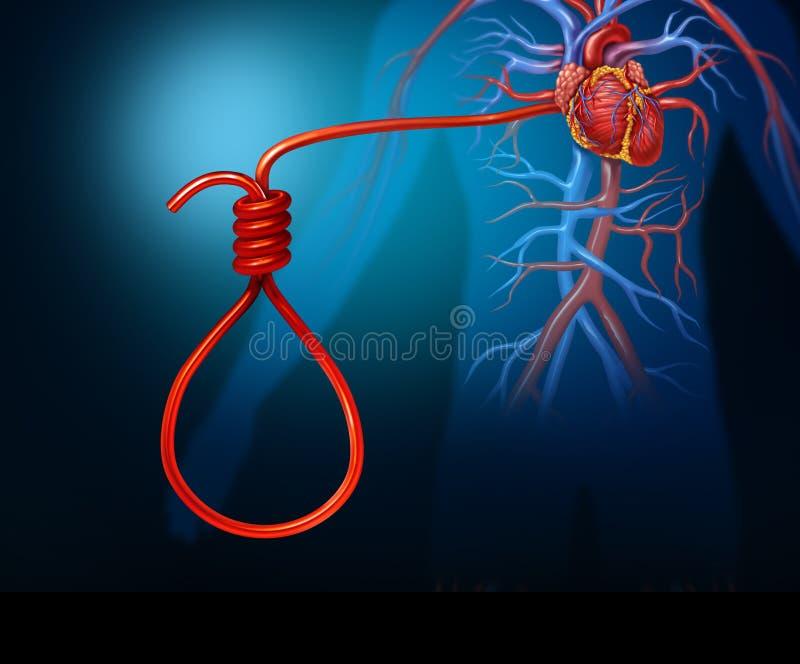 Concept de crise cardiaque illustration stock