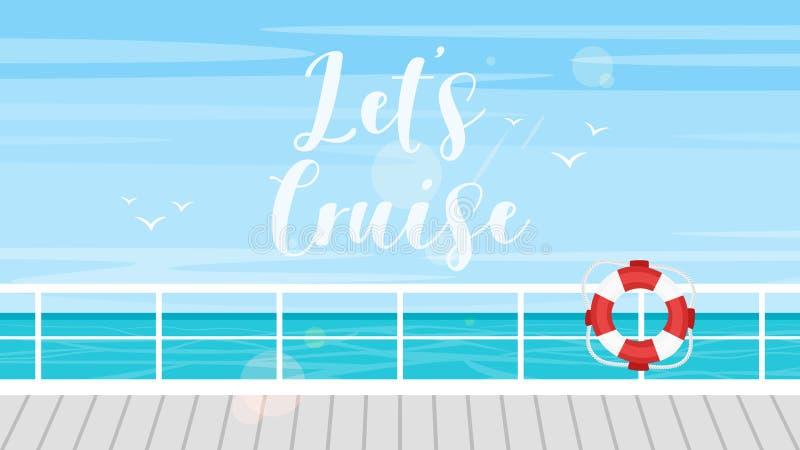 Concept de croisière, de voyage et de tourisme illustration stock