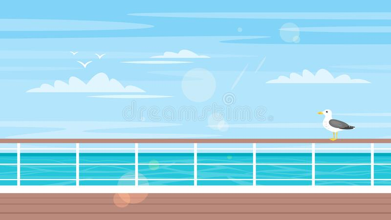 Concept de croisière, de voyage et de tourisme illustration libre de droits