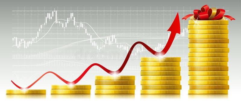 Concept de croissance capitale illustration stock