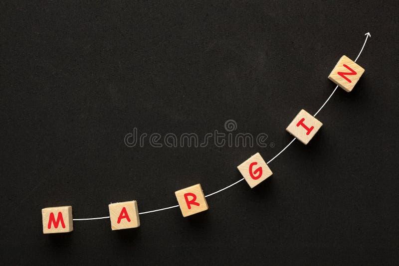 Concept de croissance de marge photographie stock
