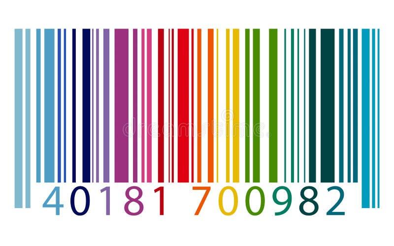 Concept de cryptage des données de vente d'identité de code barres illustration libre de droits