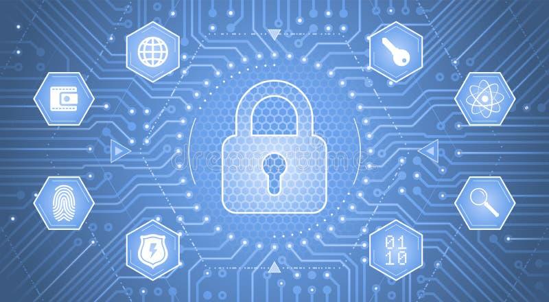 Concept de cryptologie illustration de vecteur