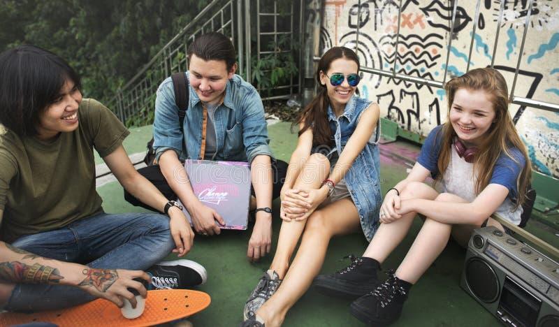Concept de culture de la jeunesse d'activité d'unité d'amitié de personnes photo stock
