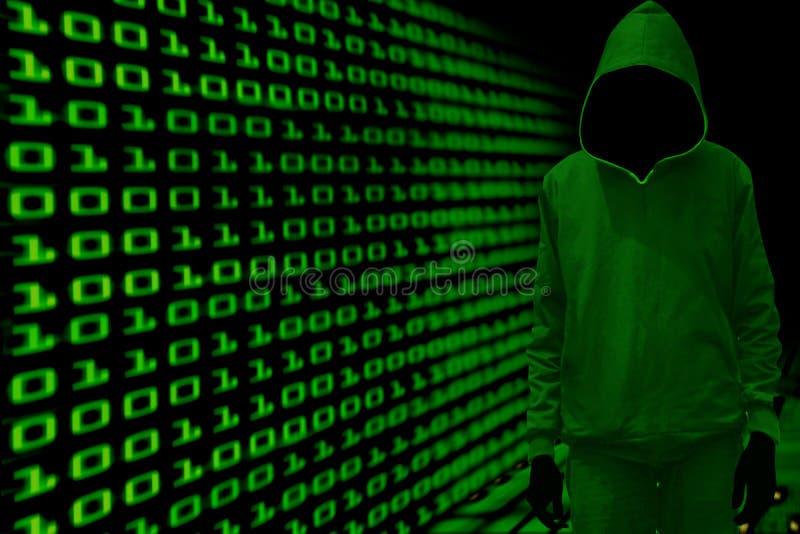 Concept de cyber de pirate informatique images libres de droits