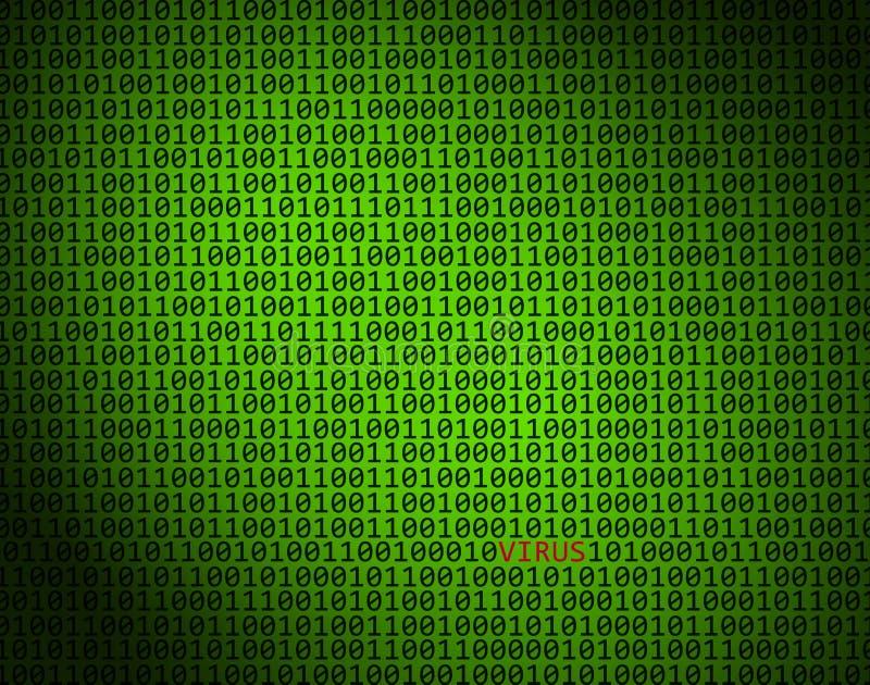 Concept de cybercriminalité de VIRUS images libres de droits