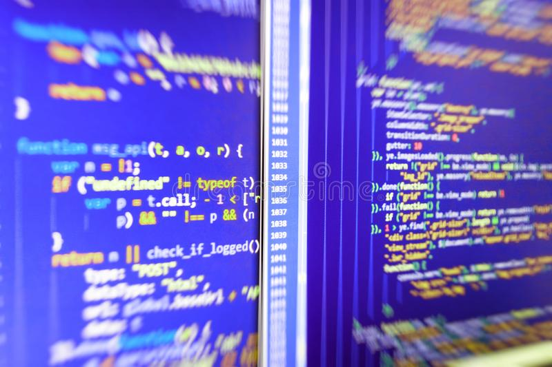 Concept de cyberespace de codage photo libre de droits