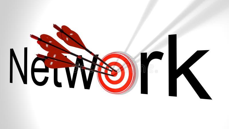 Concept de cybersecurity d'attaque de réseau illustration libre de droits