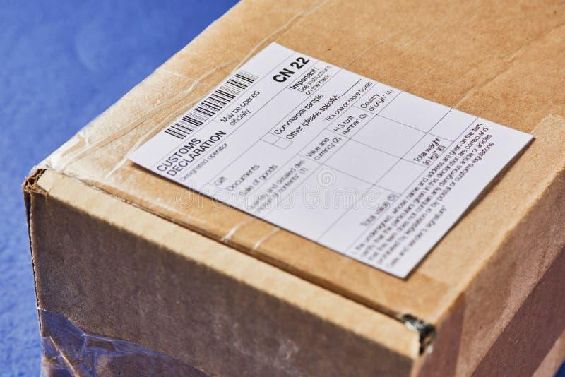 Concept de déclaration en douane photographie stock
