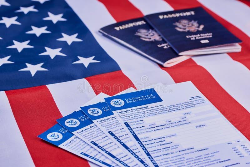 Concept de déclaration en douane photos stock