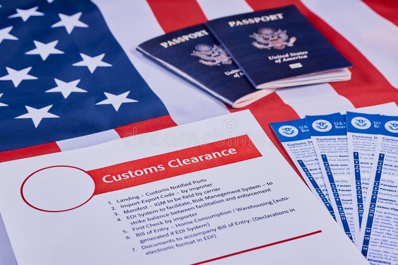 Concept de déclaration en douane images libres de droits