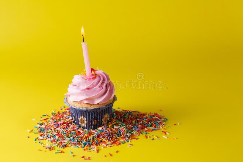 Concept de décoration de cadeau d'anniversaire images stock