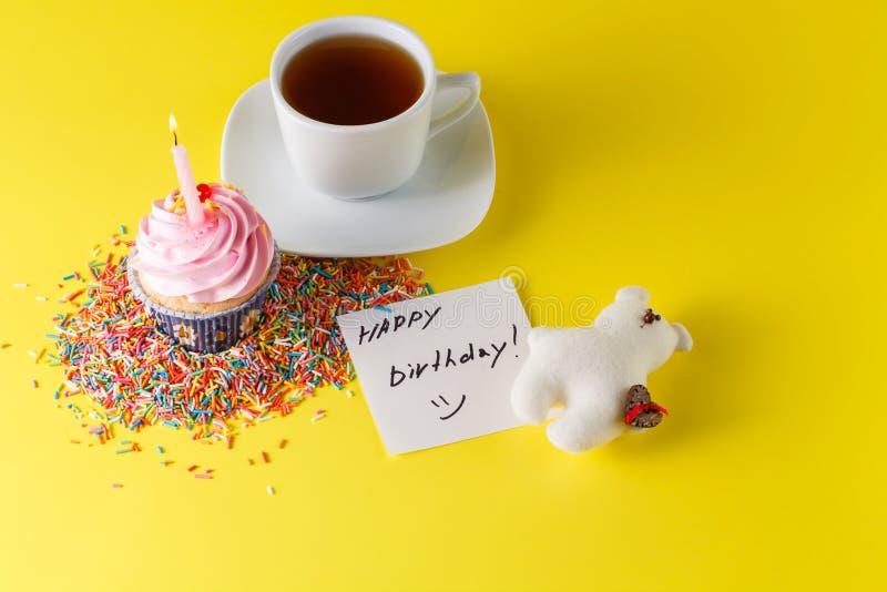 Concept de décoration de cadeau d'anniversaire image stock