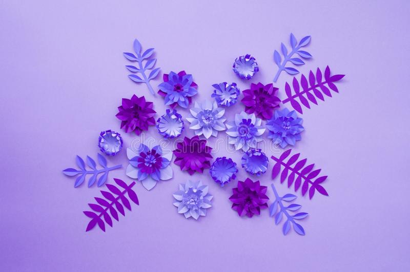 Concept de décoration de fleur de métier de papier photographie stock