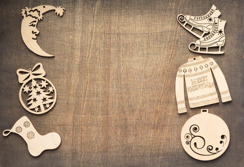 Concept de décoration de Noël avec des jouets images stock